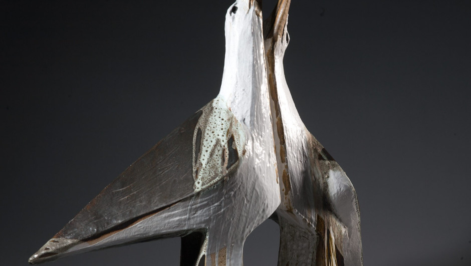 ILLONA MORRICE  Albatross  ceramic | 68cm high x 100cm x 23cm