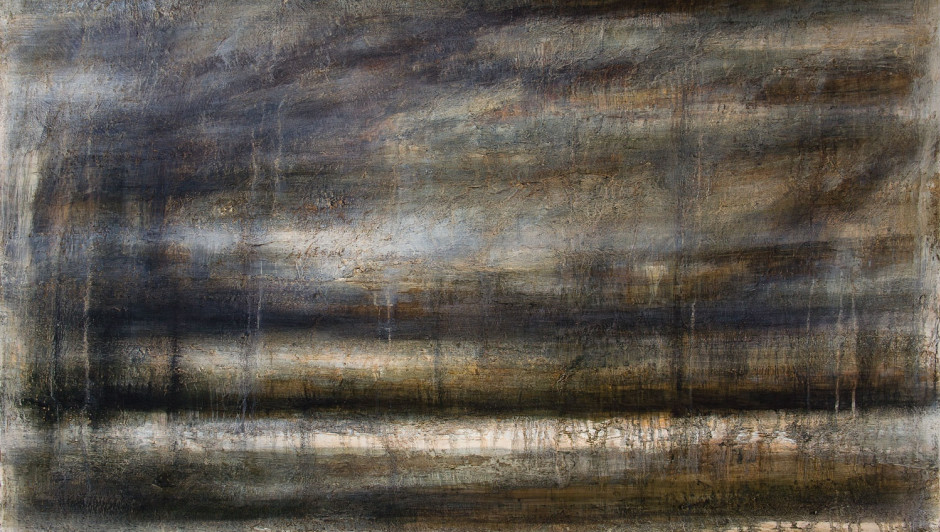 PETER WHITE   landscape 1   oil, acrylic and wax   122cm x 150cm