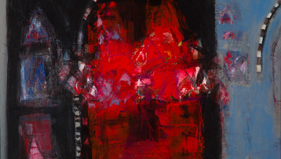 CHARLES MACQUEEN RGI RSW | Jodphur Heat (detail) mixed media | 36cm x 41cm