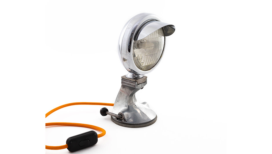'Norton Motorcycle Lamp' By Sam Isaacs Norton motorcycle lamp with Vintage Spong mincer base