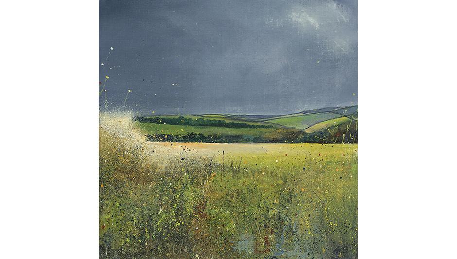 'The Deer Field' By Suki Wapshott Oil on Canvas Board