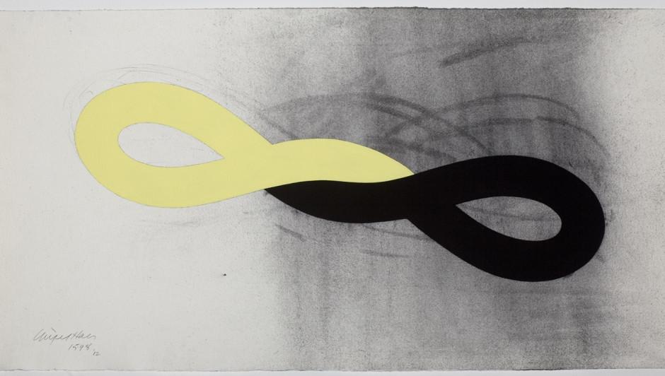 Nigel Hall RA (b.1943), Drawing 1598, acrylic and charcoal