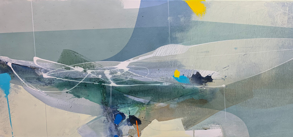 Riptide (detail), acrylic on canvas ANDREW BIRD RELOCATION A CHANGING SELECTION OF WORKS BY GALLERY ARTISTS AND MODERN ST IVES & BRITISH NAMES ongoing