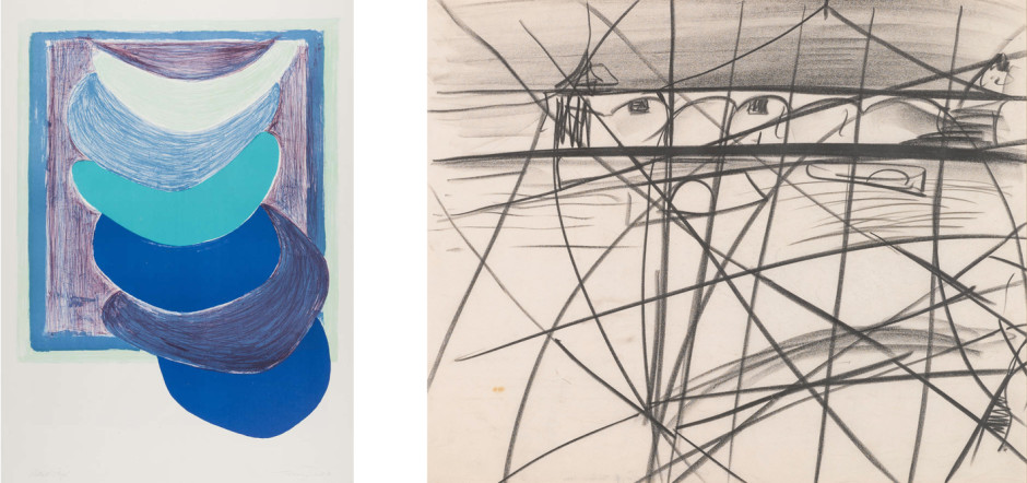 Blue Suspended Form (1970), lithograph Study from Clevedon Bandstand IX (1964), conté on paper TERRY FROST PETER LANYON RELOCATION A CHANGING SELECTION OF WORKS BY GALLERY ARTISTS AND MODERN ST IVES & BRITISH NAMES ongoing