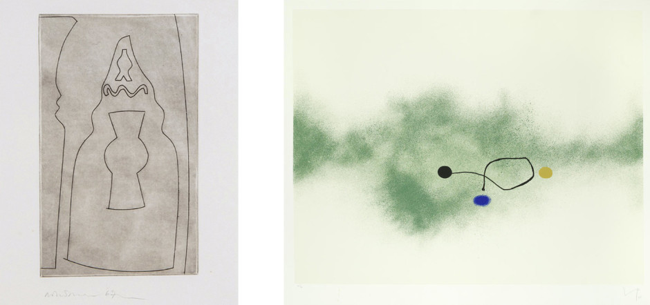 Curled Turkish Form (1967), etching on paper Milky Way (1986), silkscreen on paper BEN NICHOLSON VICTOR PASMORE RELOCATION A CHANGING SELECTION OF WORKS BY GALLERY ARTISTS AND MODERN ST IVES & BRITISH NAMES ongoing