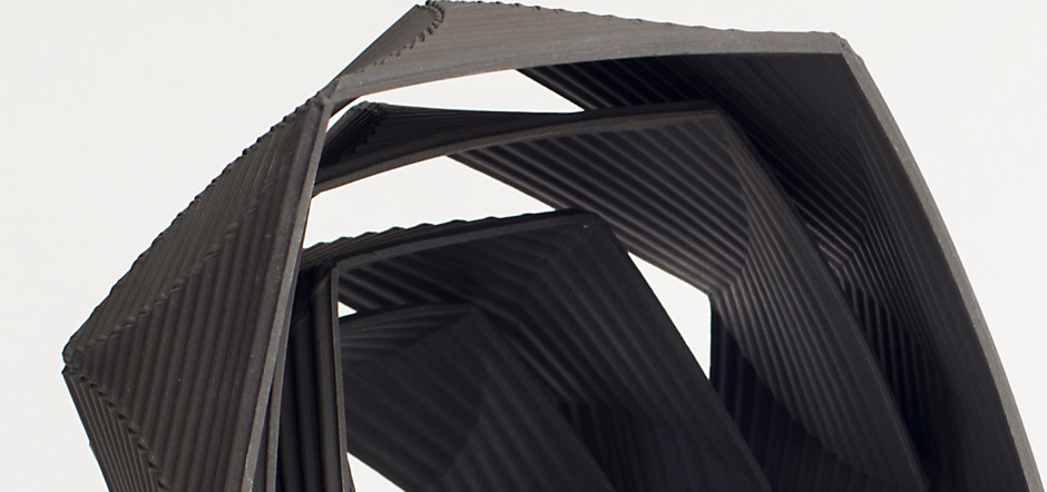 Helix 5555 Black (detail), porcelain KEITH VARNEY RELOCATION A CHANGING SELECTION OF WORKS BY GALLERY ARTISTS AND MODERN ST IVES & BRITISH NAMES ongoing