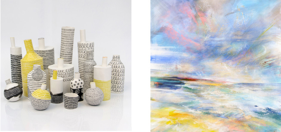 JANE MUENDE FREYA HORSLEY ST IVES SUMMER SHOW: 12 CHANGING SHOW OF PAINTINGS AND CERAMICS BY GALLERY ARTISTS UNTIL 24 AUGUST