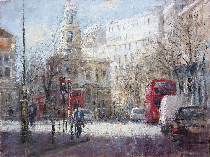 GERALD GREEN  TOWARDS ST MARY'S IN THE STRAND, LONDON