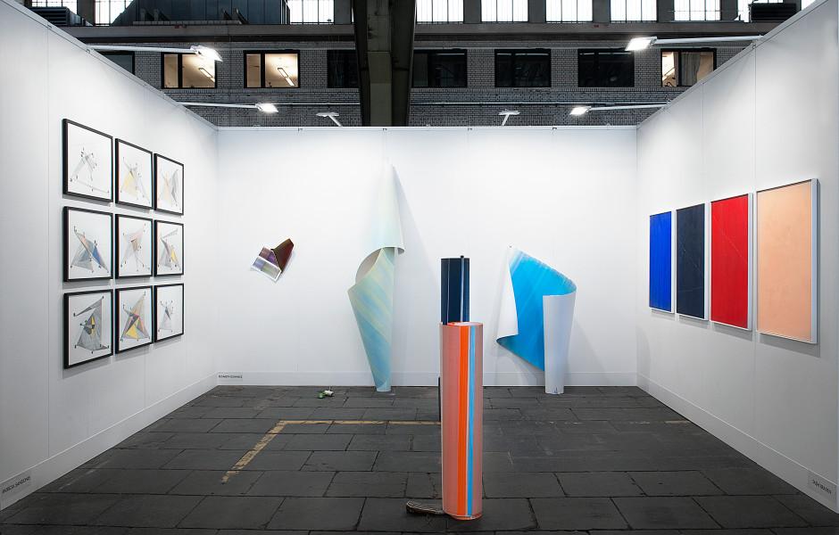Positions Berlin Art Fair Booth View Featured Artists: Patricia Sandonis Elisabeth Sonneck Tashi Brauen
