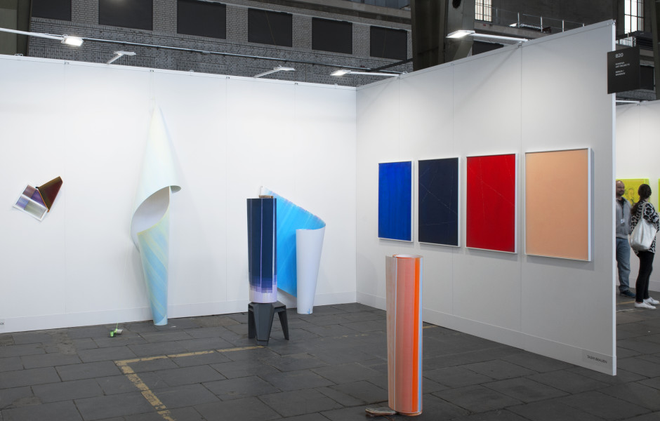 Positions Berlin Art Fair Booth View Featured Artists: Elisabeth Sonneck Tashi Brauen
