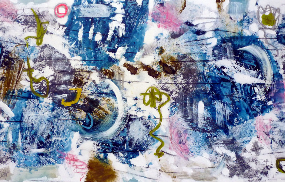 Pierre Gottfried Imhof Style & Substance: Indigo, 2013 Mixed media on canvas