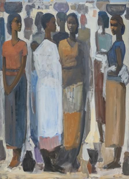 Tadesse Mesfin, Pillars of Life: Saturday Market III, 2019
