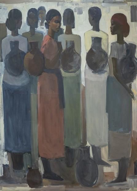 Tadesse Mesfin, Pillars of Life: Water Bearers II, 2019