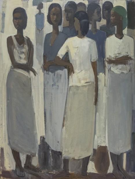 Tadesse Mesfin, Pillars of Life: Saturday Market IV, 2019