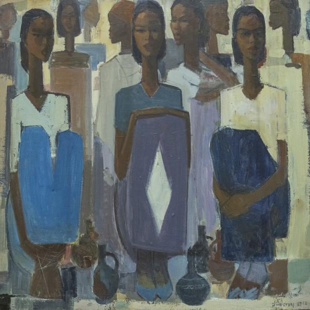 Tadesse Mesfin, Pillars of Life: Waiting II, 2019
