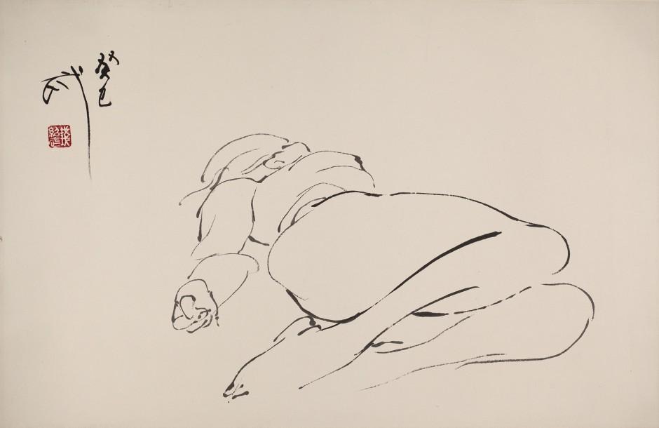 Qian Shaowu 钱绍武, Figure Line Drawing No. 4 人体线描4, 2014
