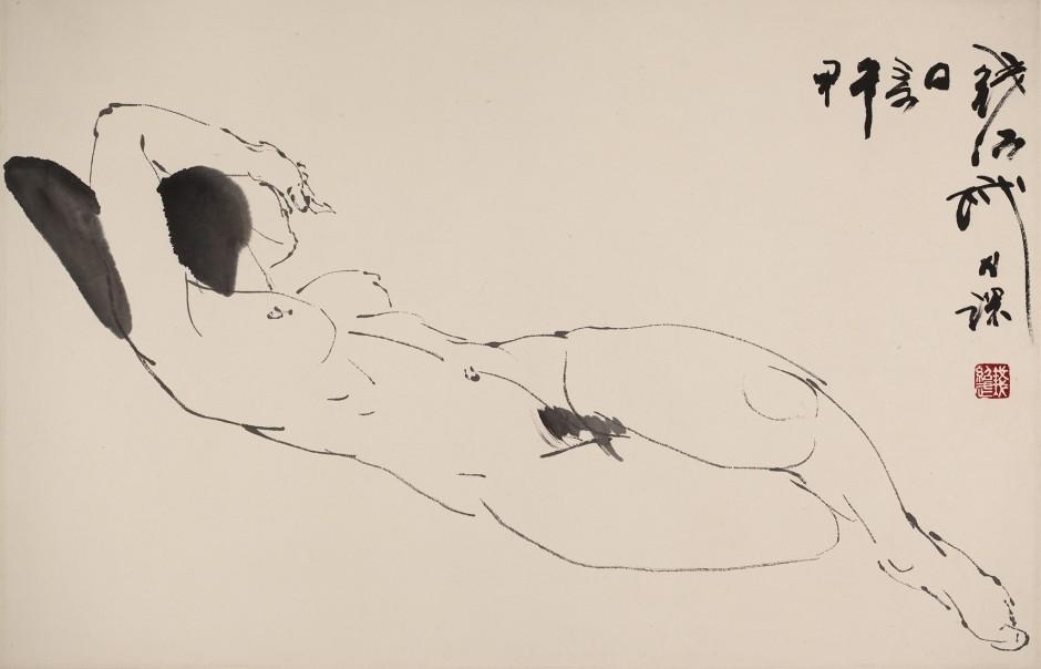 Qian Shaowu 钱绍武, Figure Line Drawing No. 3 人体线描3, 2014