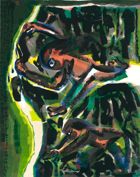 Chen Haiyan 陈海燕, The Loose Mountain Rock 松动的山石, 2012