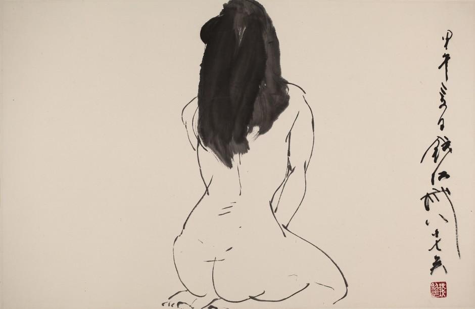 Qian Shaowu 钱绍武, Figure Line Drawing No. 9 人体线描9, 2014