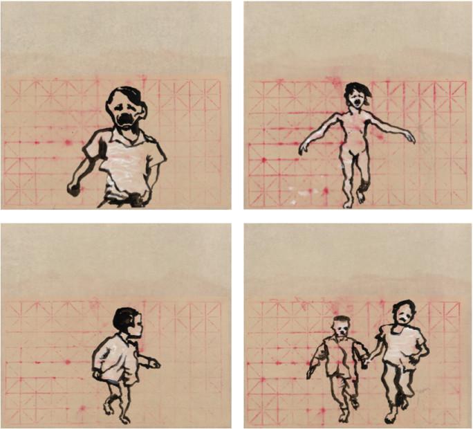 Yang Jiechang 杨诘苍, Children Running 1, 2, 3, 4 跑吧 1, 2, 3, 4, 2014