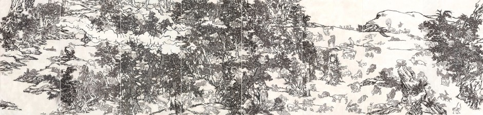 Yang Jiechang 杨诘苍, Black and White Mustard Seed Garden (Tale of the 11th Day series) 十一日谈系列:白描芥子园, 2009-2014