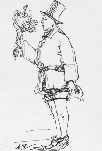 Yang Jiechang 杨诘苍, Young Man with Flowers 1924-2014 No. 2 花少年 1924-2014 2号, 2014