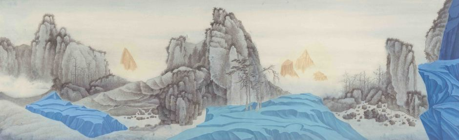 Xu Lei 徐累, Interacting Mountains No. 3 互山之三, 2017