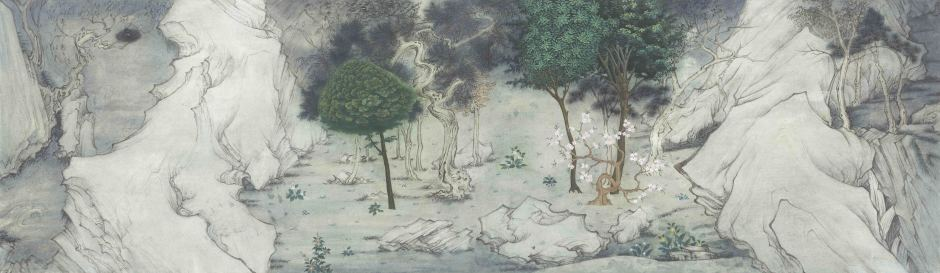 Xu Lei 徐累, Interacting Trees 互树, 2018