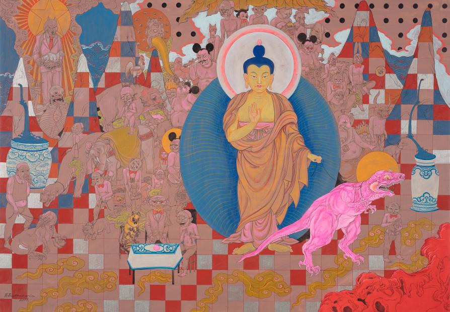 Baatarzorig Batjargal, Buddha's Garden, 2017