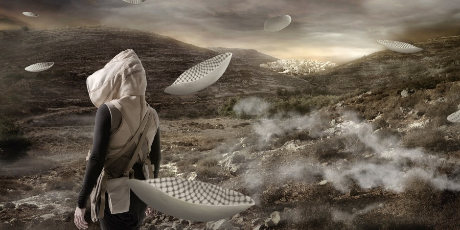 Larissa Sansour, In the Future, They Ate From the Finest Porcelain 2, 2014