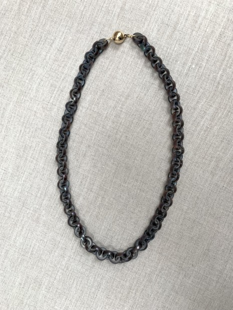 Peacock Pearl Chain Necklace, 2019