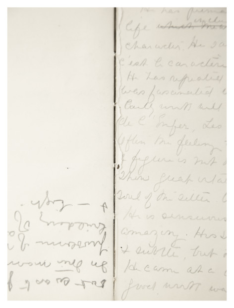 Timefold from the notebooks of Gertrude Vanderbilt Whitney, 2015