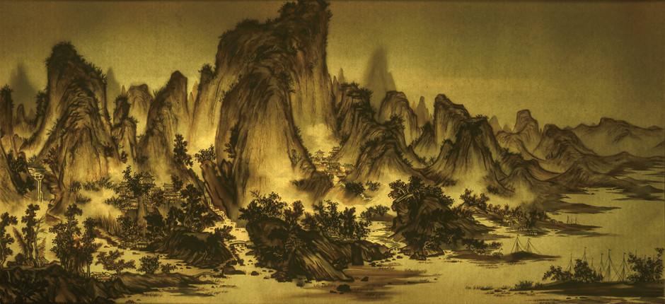 Xu Bing 徐冰, Background Story: Mount Xia 背后的故事:夏山图 , 2018