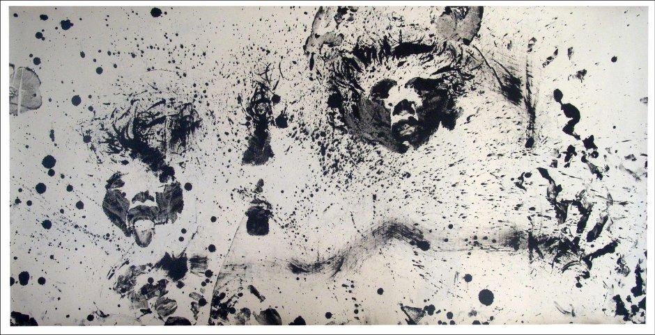 Wang Peng 王蓬, 84 Performance (Ink 84-1) 84行为艺术, 1984