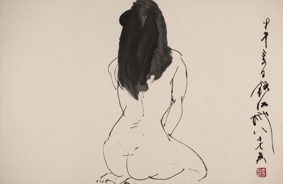 <span class=&#34;artist&#34;><strong>Qian Shaowu &#38065;&#32461;&#27494;</strong></span>, <span class=&#34;title&#34;><em>Figure Line Drawing No. 9 &#20154;&#20307;&#32447;&#25551;9</em>, 2014</span>