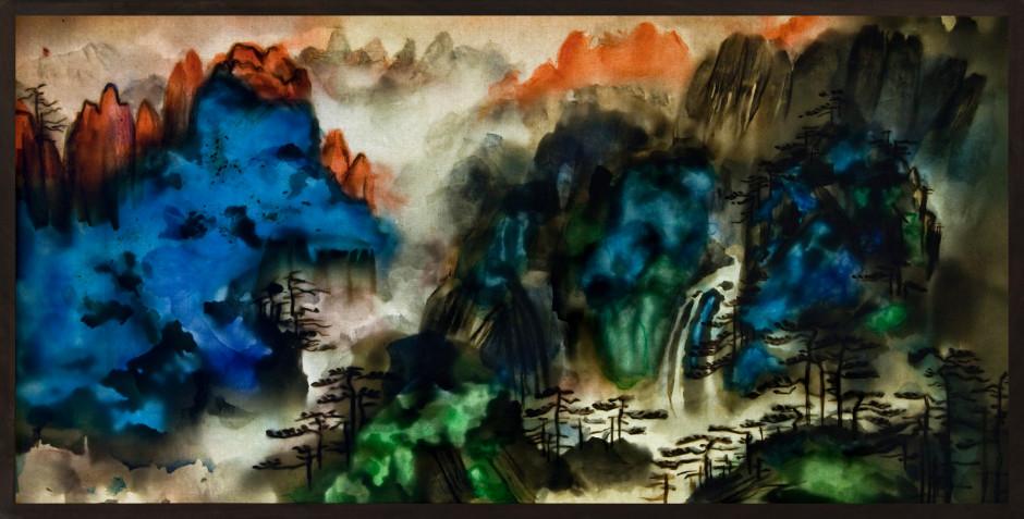 Xu Bing 徐冰, Background Story: Mount Huang 背后的故事:黄山图, 2017