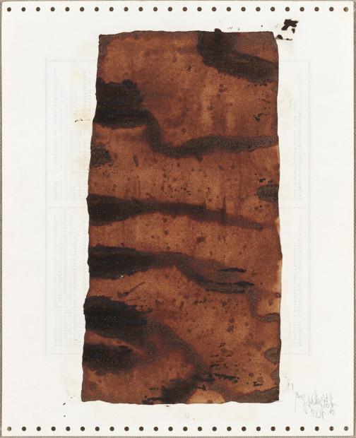 <p><span class=&#34;artist&#34;><strong>Yang Jiechang &#26472;&#35800;&#33485;</strong></span>, <span class=&#34;title&#34;><em>Soy Sauce Drawings 1 &#37233;&#27833;&#30011; 1</em>, 1988</span></p>