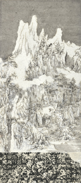 Wang Tiande 王天德, Thousand Layers of Snow by the Pine Trees 千雪傍松图,223, 2019