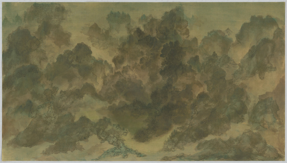 Bingyi 冰逸, Lotus Dynasty No. 8: Blue-and-Green Landscape of Fairy Mountains 莲朝之八:青绿仙山卷, 2018