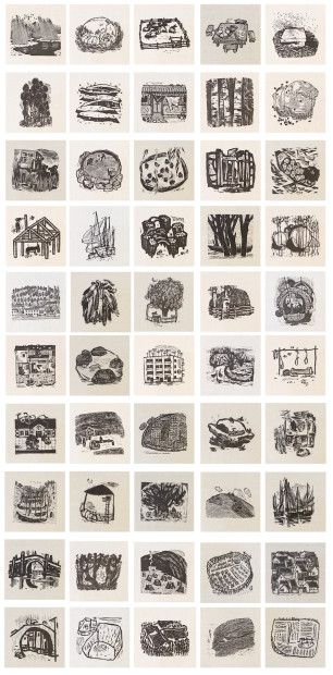 Xu Bing 徐冰, Shattered Jade Series, Black and White 碎玉集, 黑白, 1978-83