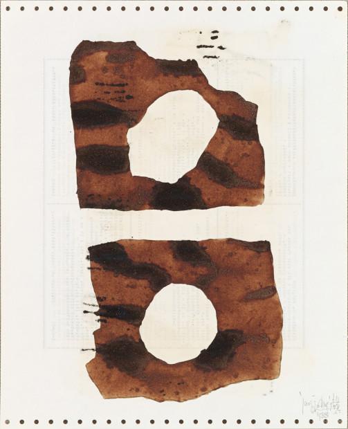<p><span class=&#34;artist&#34;><strong>Yang Jiechang &#26472;&#35800;&#33485;</strong></span>, <span class=&#34;title&#34;><em>Soy Sauce Drawings 3 &#37233;&#27833;&#30011; 3</em>, 1988</span></p>