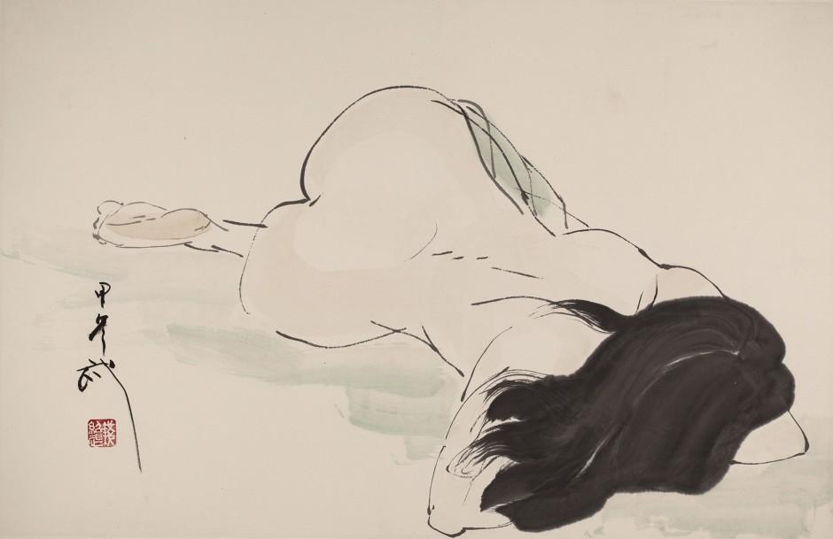 <span class=&#34;artist&#34;><strong>Qian Shaowu &#38065;&#32461;&#27494;</strong></span>, <span class=&#34;title&#34;><em>Figure Line Drawing No. 11 &#20154;&#20307;&#32447;&#25551;11</em>, 2014</span>