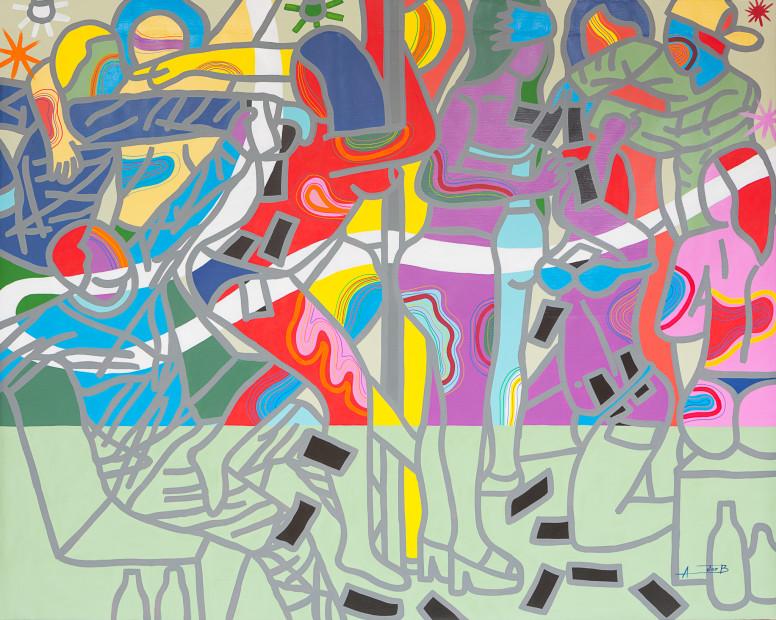 <span class=&#34;artist&#34;><strong>Ajarb Bernard Ategwa</strong></span>, <span class=&#34;title&#34;><em>Farotage dey sock sock</em>, 2017</span>
