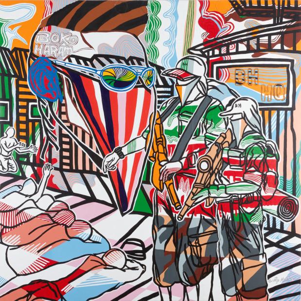 <em>Blood on the Painting</em>, 2016