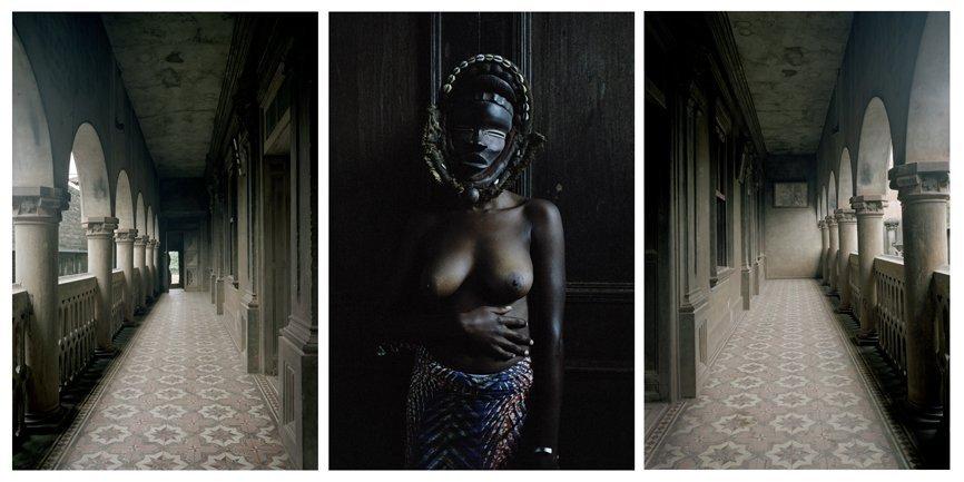 Untitled triptych (Demoiselles de Porto-Novo series), 2012