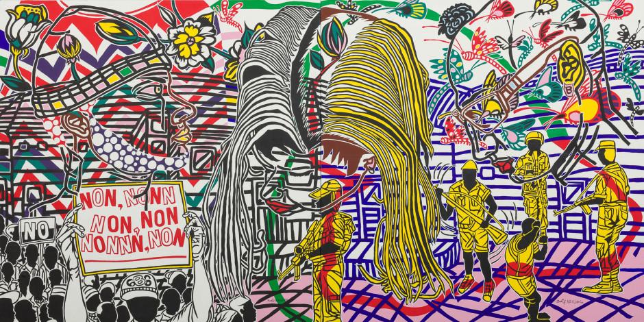 Révolte 01 (diptych), 2016