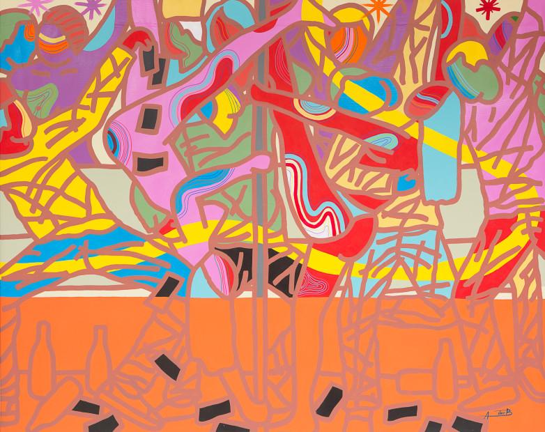 <span class=&#34;artist&#34;><strong>Ajarb Bernard Ategwa</strong></span>, <span class=&#34;title&#34;><em>Kwasa Kwasa Girls</em>, 2017</span>