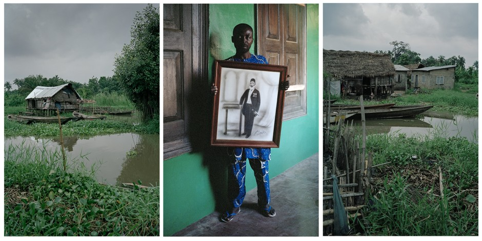 Untitled Triptych (Code Noir), 2014