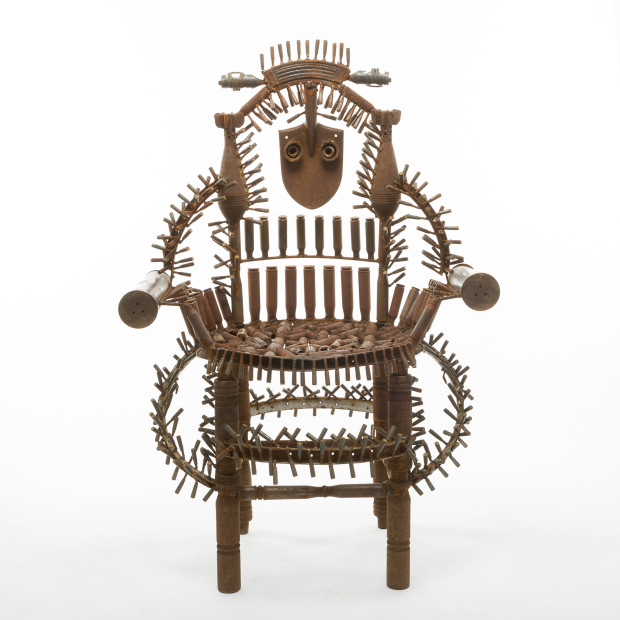 <span class=&#34;artist&#34;><strong>Gon&#231;alo Mabunda</strong></span>, <span class=&#34;title&#34;><em>The Throne of the World</em>, 2016</span>