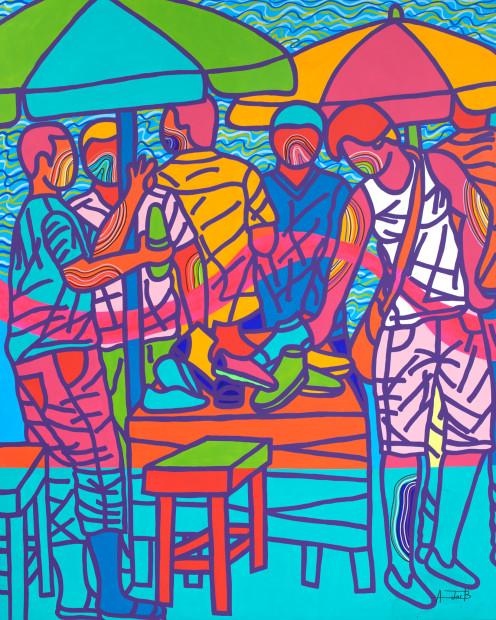 <span class=&#34;artist&#34;><strong>Ajarb Bernard Ategwa</strong></span>, <span class=&#34;title&#34;><em>Na 2 kolo</em>, 2018</span>